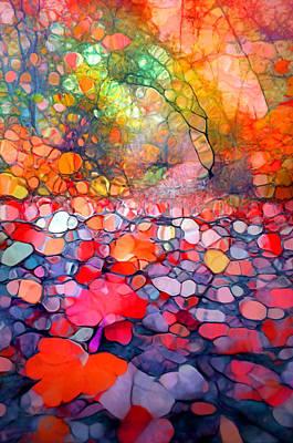 Walkway Digital Art - The Simple Dreams Of Fallen Leaves by Tara Turner