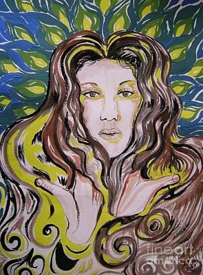 Celine Dion Painting - The Singer Of Paradise. Celine Dion by David Alvarado