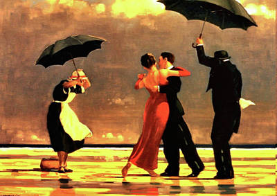 Umbrella Painting - The Singing Butler by Jack Vettriano