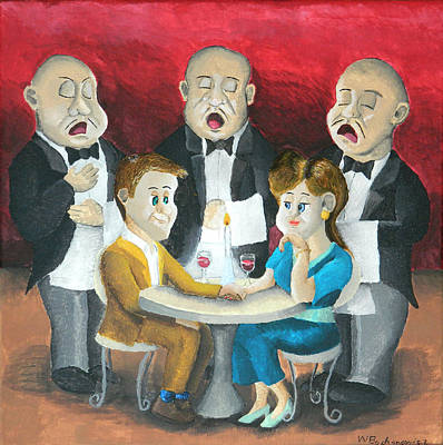 Night Out Painting - The Singing Waiters by Winton Bochanowicz