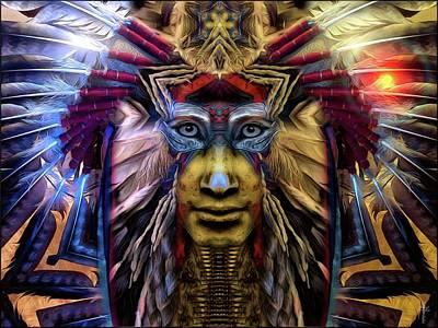 Magic Photograph - The Sioux Spirit - The Plumed Lion by Daniel Arrhakis