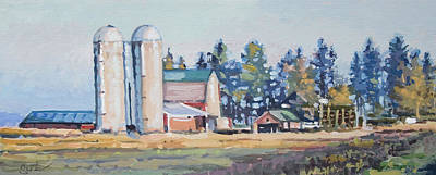 Painting - The Sipple Farm by Larry Seiler