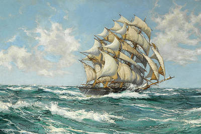 Sphere Painting - The Sir Lancelot by Montague Dawson