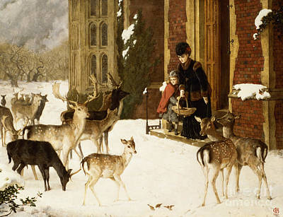 Stag Painting - The Sisters Of Charity by Charles Burton Barber