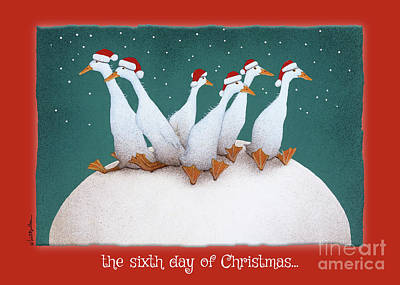 Painting - the sixth day of Christmas... by Will Bullas