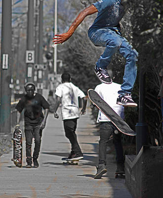 Adidas Photograph - The Skateboardist by Steavon Horne