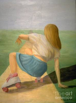 Painting - The Skater by Mary Erbert