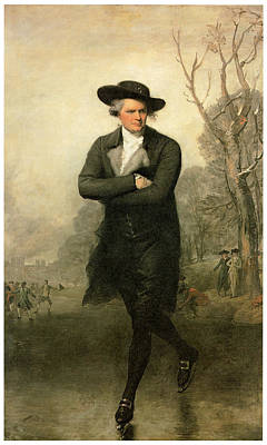 The Skater Portriat Of William Grant Art Print by Gilbert Stuart
