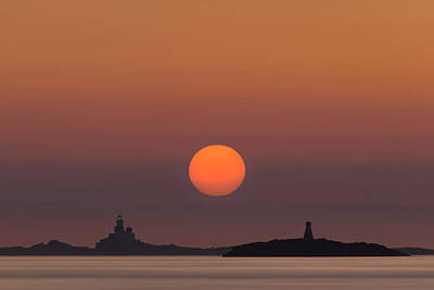 Photograph - The Skerries Lighthouse  by Andy Astbury