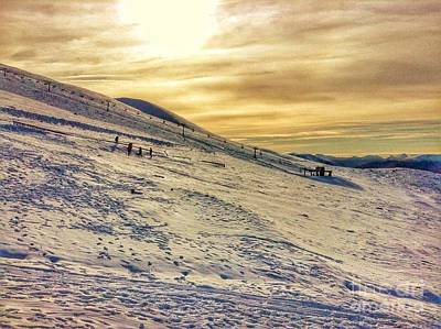 Photograph - The Ski Slopes Of Ben Nevis by Joan-Violet Stretch