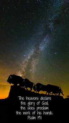 The Skies Proclaim Art Print by Stephen Stookey