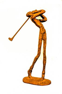 Photograph - The Skinny Golfer by Tom Zukauskas