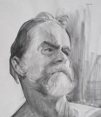 Drawing - The Skipper by Robert Holden