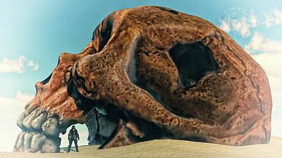 Digital Art - The Skull Of The Beast... by Tim Fillingim