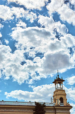 Photograph - The Sky Above The Towers Of Montjuic by Eduardo Jose Accorinti
