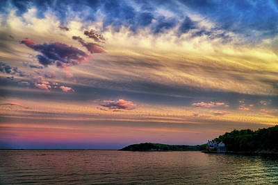Photograph - The Sky After Sunset North Shore Ma by Lilia D