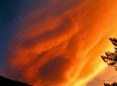 Photograph - The Sky Is Burning by George Tuffy