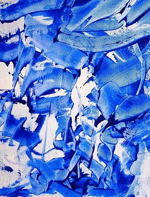 Blue Abstracts Painting - The Sky Is Falling by Bruce Combs - REACH BEYOND