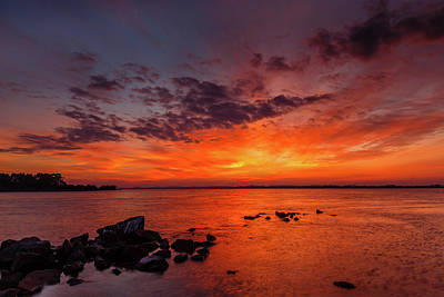 Photograph - The Sky Is On Fire by Robert Caddy