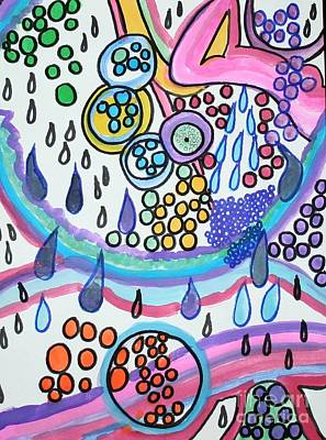 Painting - The Sky Is Raining by Victoria Hasenauer