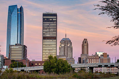 Photograph - The Skyline Of Oklahoma City by Gregory Ballos