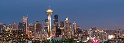 Photograph - The Skyline Of Seattle At Night by Willie Harper