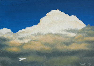 The Sky's The Limit Art Print by Karen Coombes