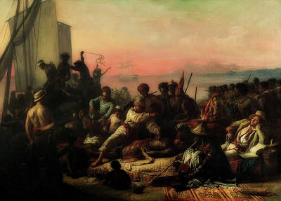 Whipping Wall Art - Painting - The Slave Trade by Auguste Biard