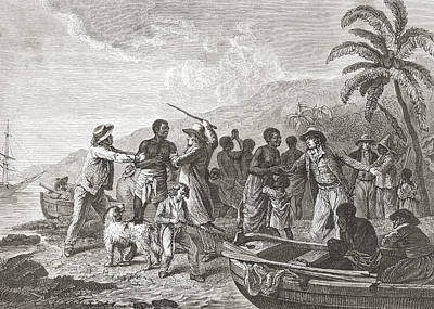 Native Drawing - The Slave Trade By George Morland. From by Vintage Design Pics