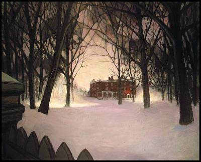 Slave Trade Painting - The John Brown House  by Steve Hayes
