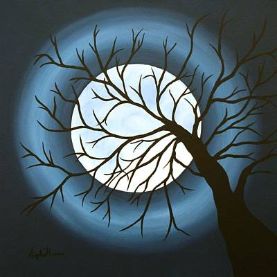 Man In The Moon Painting - The Sleeping by Angela Hansen