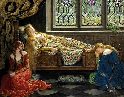 Collier Painting - The Sleeping Beauty  by John Collier