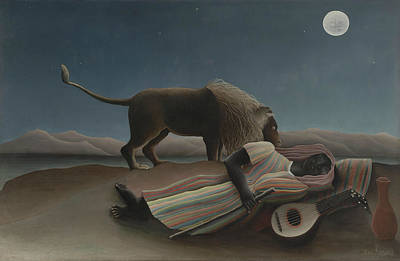 Painting - The Sleeping Gypsy, 1897 by Henri Rousseau