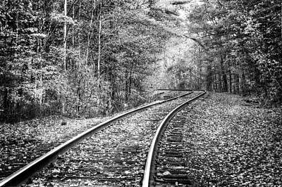 Photograph - The Slow Lane Black And White by Debra and Dave Vanderlaan