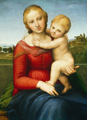 Painting - The Small Cowper Madonna by Raphael