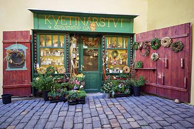 Photograph - The Small Flower Shop. Prague Spring 2017 by Jouko Lehto