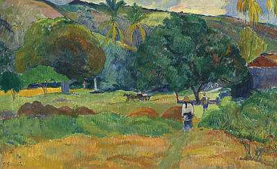 Painting - The Small Valley by Paul Gauguin