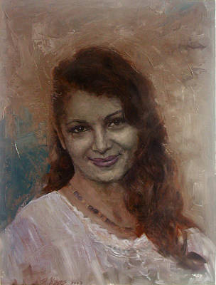 Painting - The Smile by Demetrios Vlachos