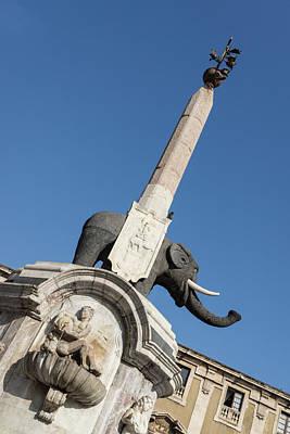 Photograph - The Smiling Elephant U Liotru - Catania Adorable Symbol by Georgia Mizuleva