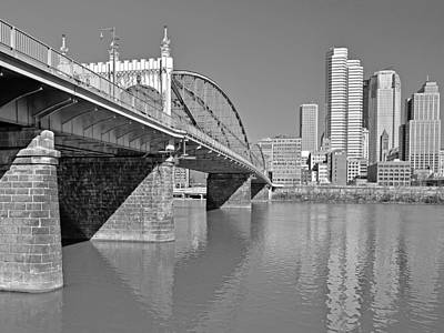 Photograph - The Smithfield Street Bridge In Pittsburgh  by Digital Photographic Arts