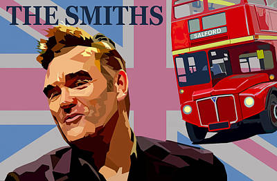 Morrissey Photograph - The Smiths by Mal Bray