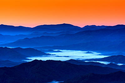 Asheville Photograph - The Smokies Before Dawn by Rick Berk