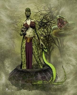 Digital Art - The Snake Basket by Ali Oppy