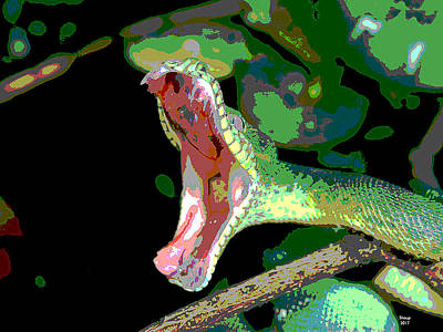 Boa Constrictor Mixed Media - The Snake In The Grass by Charles Shoup