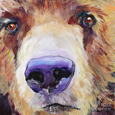 Animal Portraiture Painting - The Sniffer by Pat Saunders-White