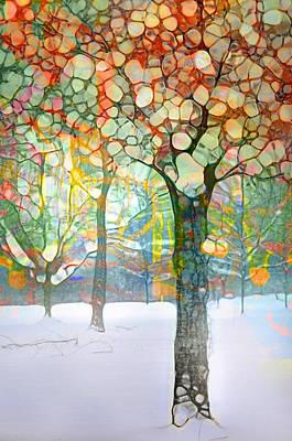 Snowy Digital Art - The Snow At Skaha by Tara Turner