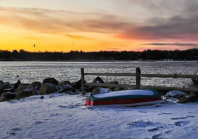 The Snow Boat Print by Diana Angstadt