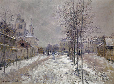 Painting - The Snow Covered Boulevard De Pontoise In Argenteuil, 1875 by Claude Monet