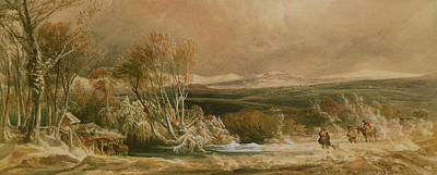 Snow Drifts Painting - The Snow Drift  by Peter de Wint