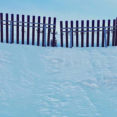 Contemporary Art Pyrography - The Snow Fence by Contemporary Art
